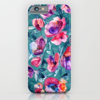 Flourish - a watercolor floral in pink and teal iPhone 6 Slim Case