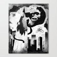 King Kong Sized Writer's… Canvas Print