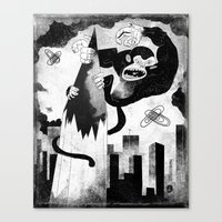 King Kong Sized Writer's… Canvas Print