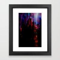 The house haunted Framed Art Print