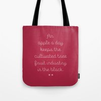 Proverbs: An Apple A Day Tote Bag