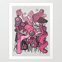 Structural Playground Art Print
