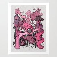 Structural Playground Art Print