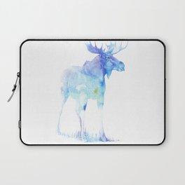 Laptop Sleeve - Blue Watercolor Moose - Pati Designs