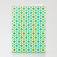 Repeated Retro - turquoise Stationery Cards