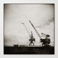 { dancing cranes } Canvas Print