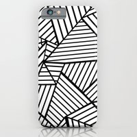 Abstraction Lines Close Up Black and White iPhone 6 Slim Case