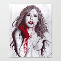Love like Blood Canvas Print