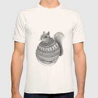 The Squirrel-Feathered Mens Fitted Tee Natural SMALL