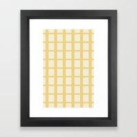 Yellow & White  Framed Art Print