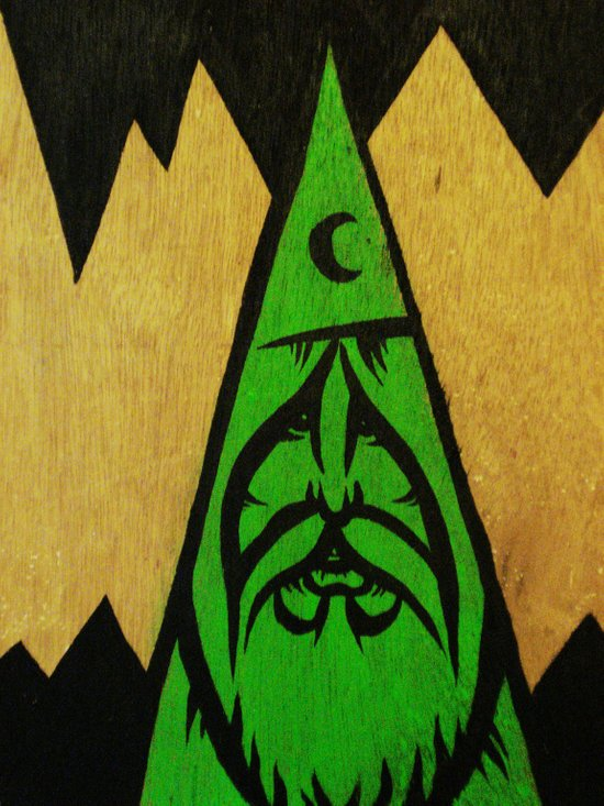 wood wizard Art Print