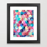 Topaz & Ruby Crystal Hon… Framed Art Print