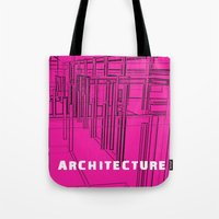 Architecture Pink Tote Bag