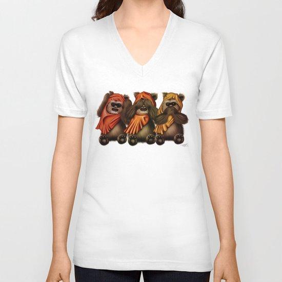 STAR WARS The Three Wise Ewoks V-neck T-shirt