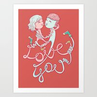 Intertwined Love Art Print