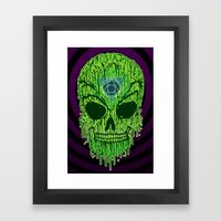 Toxxik Skull Framed Art Print