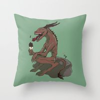 Nom Nommers Throw Pillow