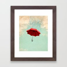 Chasing Clouds Framed Art Print