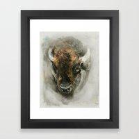 Plains Bison Framed Art Print