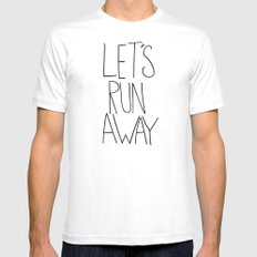 Let's Run Away VI Mens Fitted Tee White SMALL