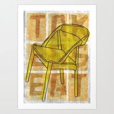 Come On In...Take A Yellow Seat Art Print