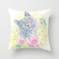 Dreamy Chartreux Cat Throw Pillow