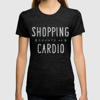 Shopping Counts As Cardio Womens Fitted Tee Tri-Black SMALL