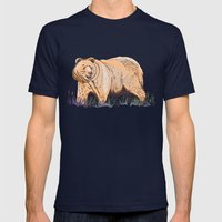 Bear Mens Fitted Tee Navy SMALL