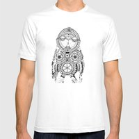 A Wise Old Owl Sat On An… Mens Fitted Tee White SMALL