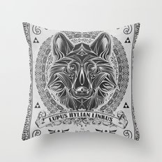 Legend of Zelda Twilight Wolf Link Line Art Throw Pillow