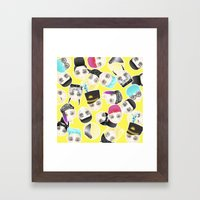 BIGBANG Collage (Yellow) Framed Art Print