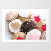 Felt Cookies Art Print