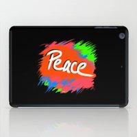 Peace (retro neon 80's style) iPad Case