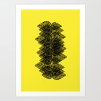 Feathered Spine Art Print