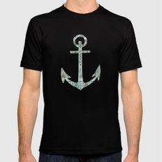Tribal Anchor and Chevron  SMALL Black Mens Fitted Tee