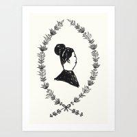 Lady Lapel Art Print