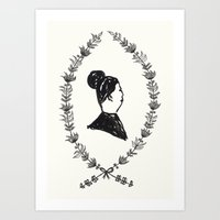 Lady Lapel Art Print