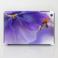 Ladybird On Violet iPad Case