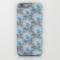 teal grey blossoms iPhone 6 Slim Case