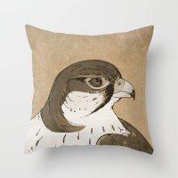 Falcon sepia Throw Pillow