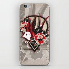 Bird & Flowers iPhone & iPod Skin