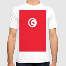 Flag of Tunisia SMALL White Mens Fitted Tee