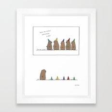 Groundhog Surprise Party… Framed Art Print