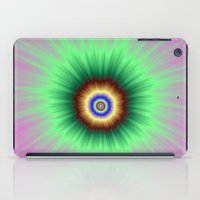 Explosion of Color in Pink and Green iPad Case