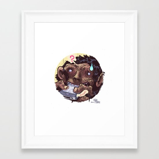 IPhone of the Apes Framed Art Print