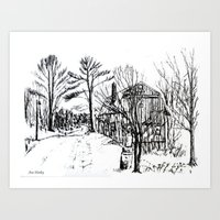 'Old Barn Near Corning' by Ave Hurley Art Print