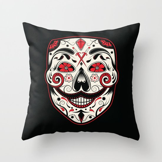 Day of the V Throw Pillow