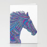 Technicolor Horse Stationery Cards