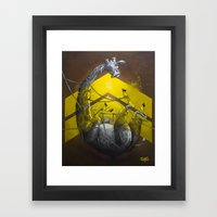 Giraffe Up! Framed Art Print