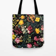 Floral and Birds Pattern Tote Bag